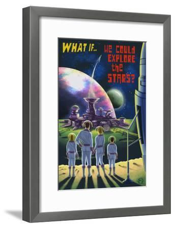 What If We Could Explore the Stars?-Lantern Press-Framed Art Print