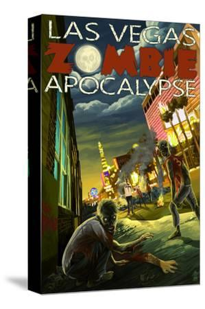 Las Vegas, Nevada - Zombie Apocolypse-Lantern Press-Stretched Canvas Print