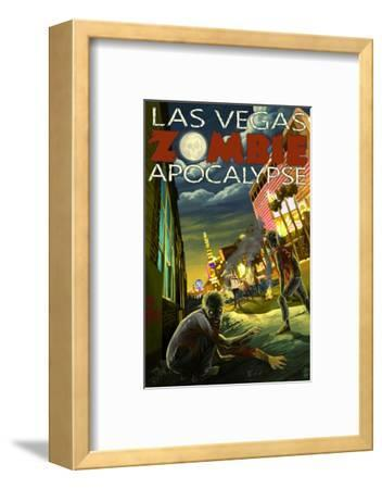 Las Vegas, Nevada - Zombie Apocolypse-Lantern Press-Framed Art Print