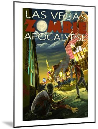 Las Vegas, Nevada - Zombie Apocolypse-Lantern Press-Mounted Art Print