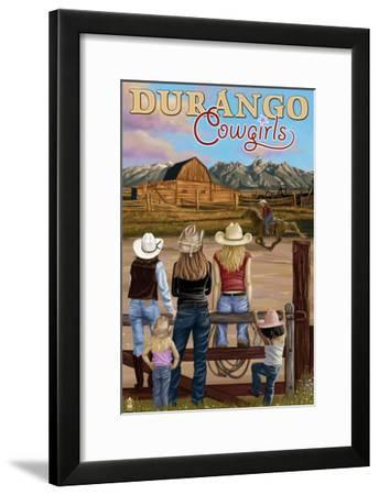 Durango, Colorado - Cowgirls-Lantern Press-Framed Art Print
