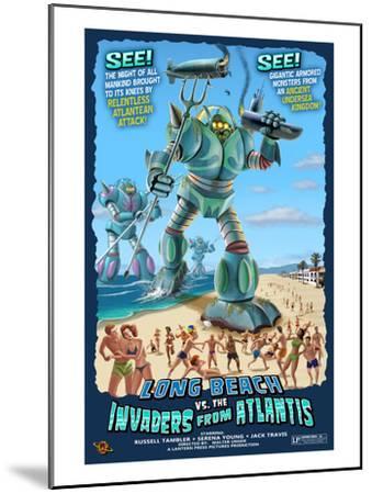 Long Beach, California - Atlantean Invaders-Lantern Press-Mounted Art Print