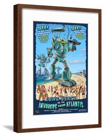 Long Beach, California - Atlantean Invaders-Lantern Press-Framed Art Print