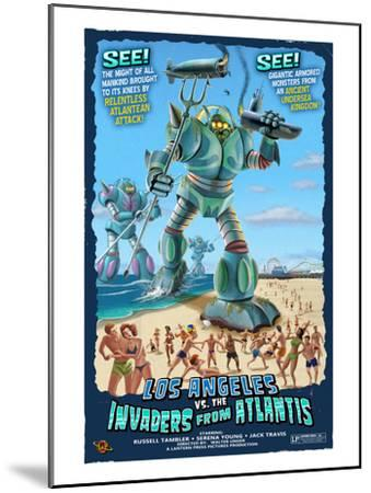 Los Angeles, California - Atlantean Invaders-Lantern Press-Mounted Art Print