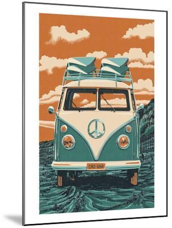 VW Van-Lantern Press-Mounted Art Print
