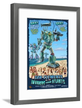 San Clemente, California - Atlantean Invaders-Lantern Press-Framed Art Print