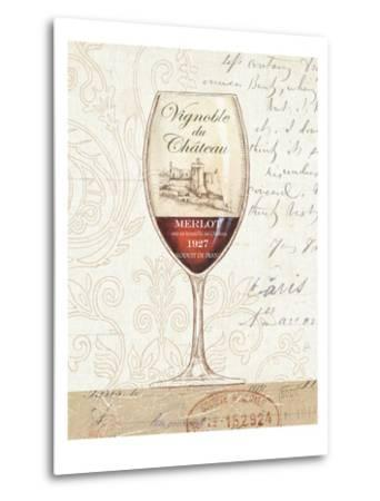 Wine by the Glass II-Daphne Brissonnet-Metal Print