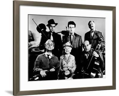 The Ladykillers, Alec Guinness, Herbert Lom, Katie Johnson, Peter Sellers, Danny Green, 1955--Framed Photo