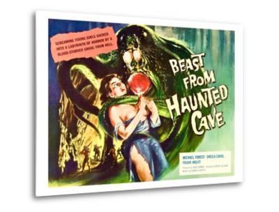 Beast From Haunted Cave, Sheila Carol, (Lobbycard), 1960--Metal Print