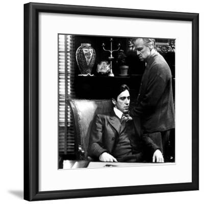 The Godfather, Al Pacino, Marlon Brando, 1972--Framed Photo