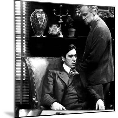 The Godfather, Al Pacino, Marlon Brando, 1972--Mounted Photo