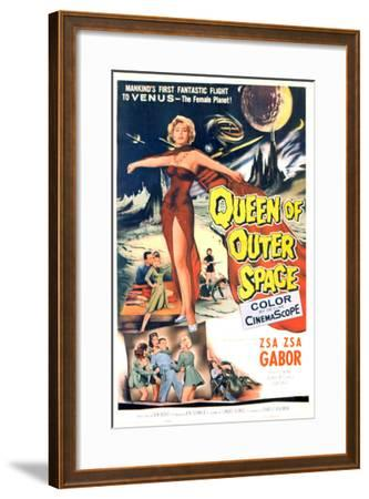 Queen of Outer Space, Zsa Zsa Gabor, 1958--Framed Photo