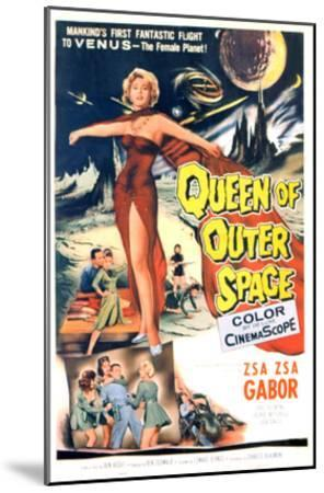 Queen of Outer Space, Zsa Zsa Gabor, 1958--Mounted Photo