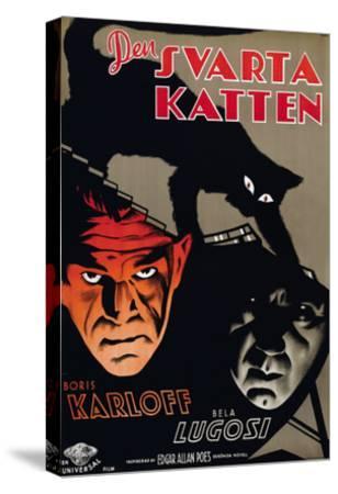 The Black Cat, (aka Den Svarta Katten), Boris Karloff, Bela Lugosi, 1934--Stretched Canvas Print