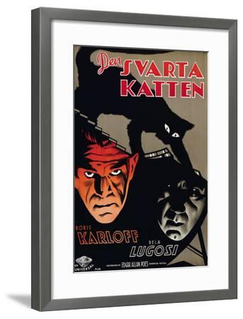The Black Cat, (aka Den Svarta Katten), Boris Karloff, Bela Lugosi, 1934--Framed Photo