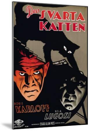 The Black Cat, (aka Den Svarta Katten), Boris Karloff, Bela Lugosi, 1934--Mounted Photo