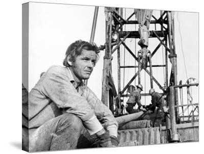Five Easy Pieces, Jack Nicholson, 1970, Working at the Oil Well--Stretched Canvas Print