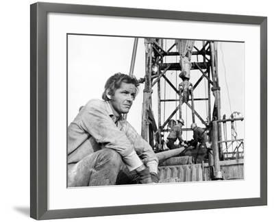 Five Easy Pieces, Jack Nicholson, 1970, Working at the Oil Well--Framed Photo