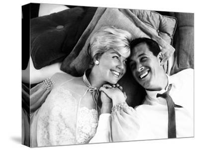 Pillow Talk, Doris Day, Rock Hudson, 1959--Stretched Canvas Print