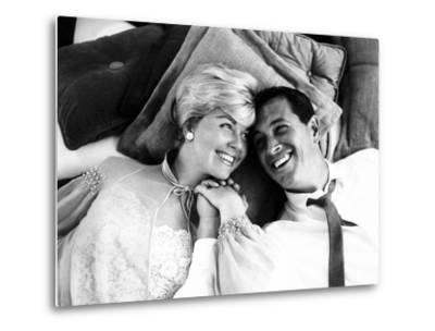 Pillow Talk, Doris Day, Rock Hudson, 1959--Metal Print