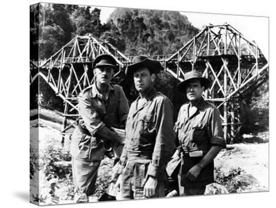 The Bridge on the River Kwai, Alec Guinness, William Holden, Jack Hawkins, 1957--Stretched Canvas Print