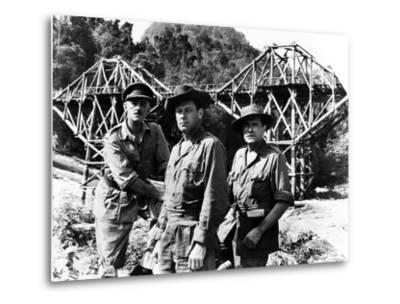 The Bridge on the River Kwai, Alec Guinness, William Holden, Jack Hawkins, 1957--Metal Print