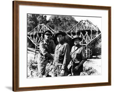The Bridge on the River Kwai, Alec Guinness, William Holden, Jack Hawkins, 1957--Framed Photo