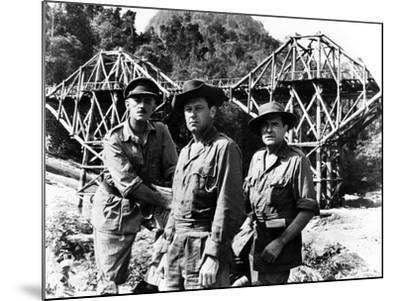 The Bridge on the River Kwai, Alec Guinness, William Holden, Jack Hawkins, 1957--Mounted Photo