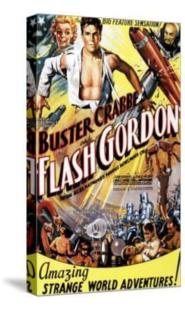 Flash Gordon, Jean Rogers, Larry 'Buster' Crabbe, Charles Middleton, 1936--Stretched Canvas Print