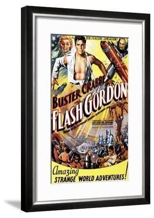 Flash Gordon, Jean Rogers, Larry 'Buster' Crabbe, Charles Middleton, 1936--Framed Photo