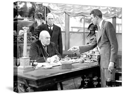 It's A Wonderful Life, Lionel Barrymore, Frank Hagney, James Stewart, 1946--Stretched Canvas Print