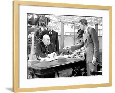 It's A Wonderful Life, Lionel Barrymore, Frank Hagney, James Stewart, 1946--Framed Photo