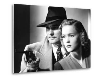 Dick Tracy's Dilemma, Ralph Byrd, Kay Christopher, 1947--Metal Print