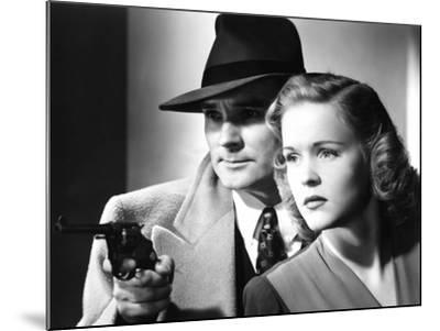 Dick Tracy's Dilemma, Ralph Byrd, Kay Christopher, 1947--Mounted Photo