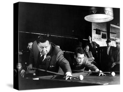 The Hustler, Jackie Gleason, Paul Newman, 1961--Stretched Canvas Print