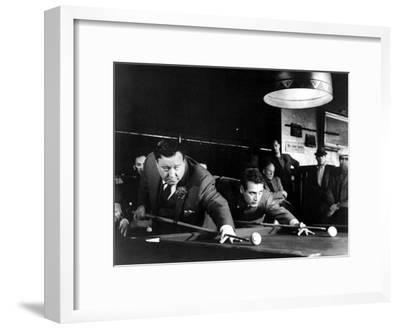 The Hustler, Jackie Gleason, Paul Newman, 1961--Framed Photo
