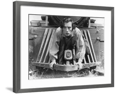 The General, Buster Keaton, 1927, Train--Framed Photo