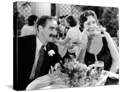 A Night At The Opera, Groucho Marx, Margaret Dumont, 1935--Stretched Canvas Print