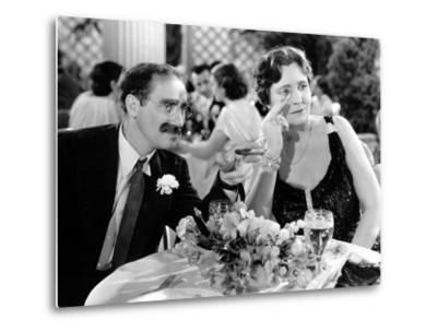 A Night At The Opera, Groucho Marx, Margaret Dumont, 1935--Metal Print