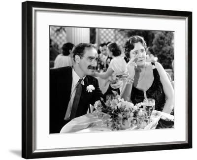 A Night At The Opera, Groucho Marx, Margaret Dumont, 1935--Framed Photo