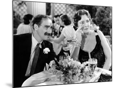 A Night At The Opera, Groucho Marx, Margaret Dumont, 1935--Mounted Photo
