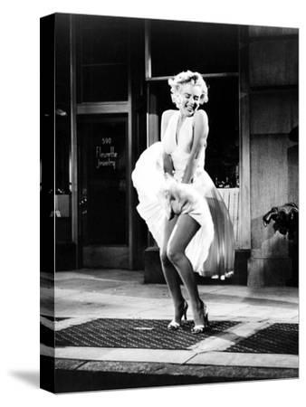 The Seven Year Itch, Marilyn Monroe, 1955--Stretched Canvas Print