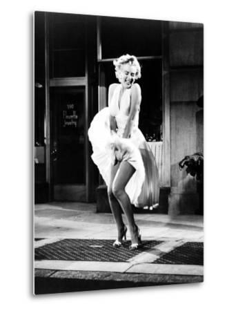 The Seven Year Itch, Marilyn Monroe, 1955--Metal Print