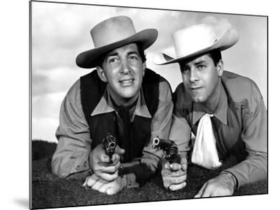 Pardners, Dean Martin And Jerry Lewis, 1956--Mounted Photo