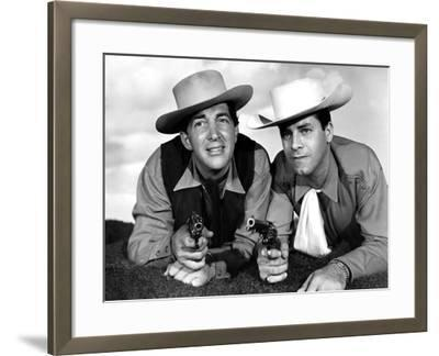 Pardners, Dean Martin And Jerry Lewis, 1956--Framed Photo