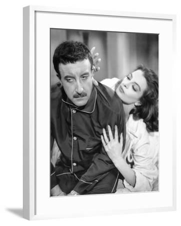 The Pink Panther, Peter Sellers, Capucine, 1963--Framed Photo