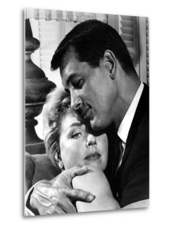 Pillow Talk, Doris Day, Rock Hudson, 1959--Metal Print