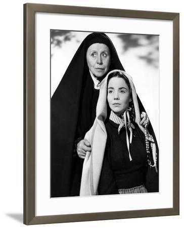 The Song Of Bernadette, Blanche Yurka, Jennifer Jones, 1943--Framed Photo