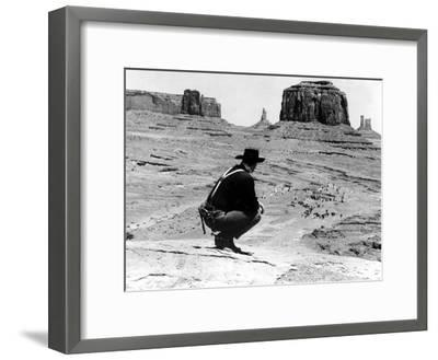 The Searchers, John Wayne, 1956--Framed Photo