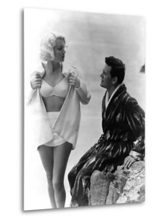 The Postman Always Rings Twice, Lana Turner, John Garfield, 1946--Metal Print